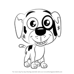 How to Draw Greasy from Pound Puppies