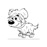 How to Draw Hairy from Pound Puppies