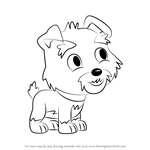 How to Draw Humphrey from Pound Puppies