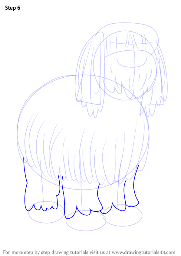 Learn How To Draw Niblet The Old English Sheepdog From Pound Puppies