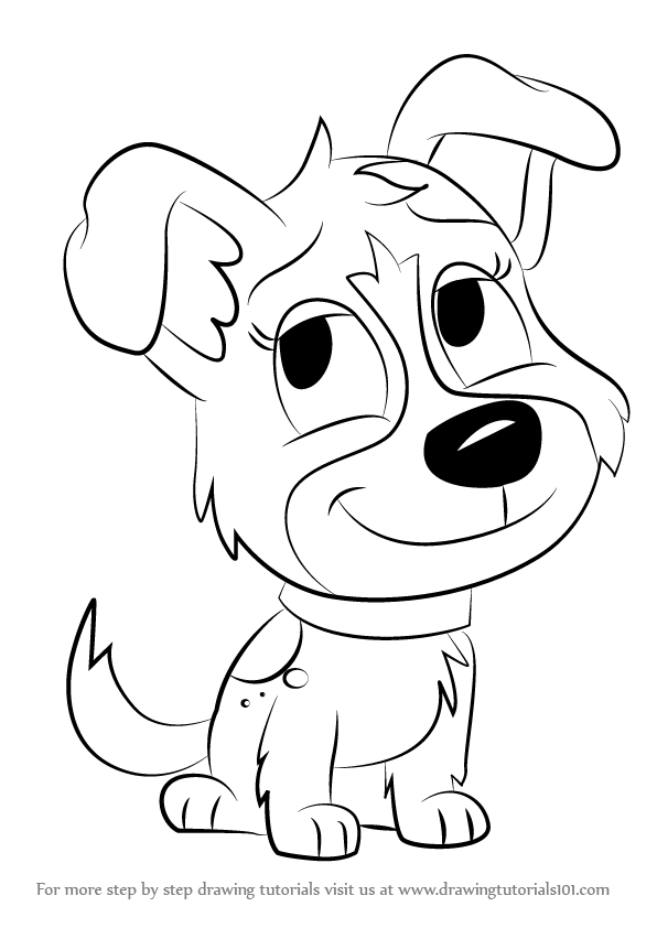 Learn how to draw pepper from pound puppies pound puppies for Pound puppies coloring pages