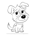 How to Draw Pepper from Pound Puppies