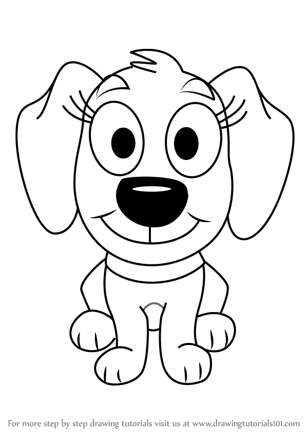 Learn how to draw piper from pound puppies pound puppies for Pound puppies coloring pages