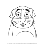 How to Draw Prince Fudgiepaws from Pound Puppies