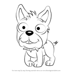 How to Draw Pugford from Pound Puppies