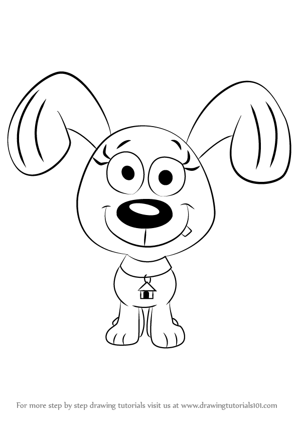 Learn how to draw rebound from pound puppies pound for Pound puppies coloring pages