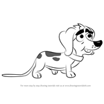 How to Draw Schleppy from Pound Puppies