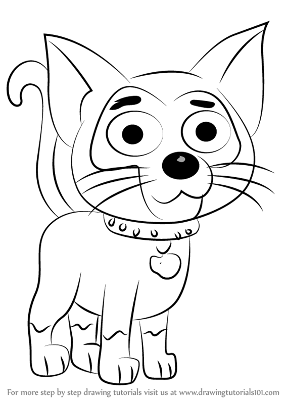 Learn how to draw squeak from pound puppies pound puppies for Pound puppies coloring pages