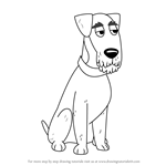 How to Draw Sterling Von Oxnard from Pound Puppies
