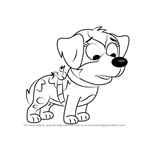 How to Draw Sweetie from Pound Puppies