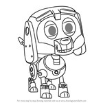 How to Draw Toyoshiko from Pound Puppies