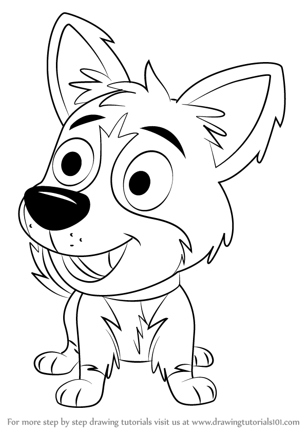 Learn How To Draw Tundra From Pound Puppies Pound Puppies