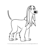 How to Draw Twiggy from Pound Puppies