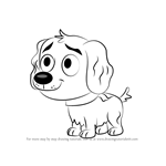 How to Draw Vanilli from Pound Puppies