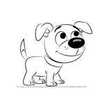 How to Draw Wagster from Pound Puppies