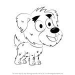 How to Draw Yakov from Pound Puppies