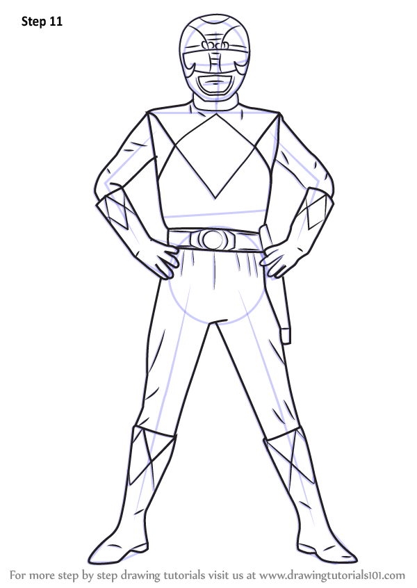 Easy Bedroom Drawings: Step By Step How To Draw Black Ranger From Power Rangers
