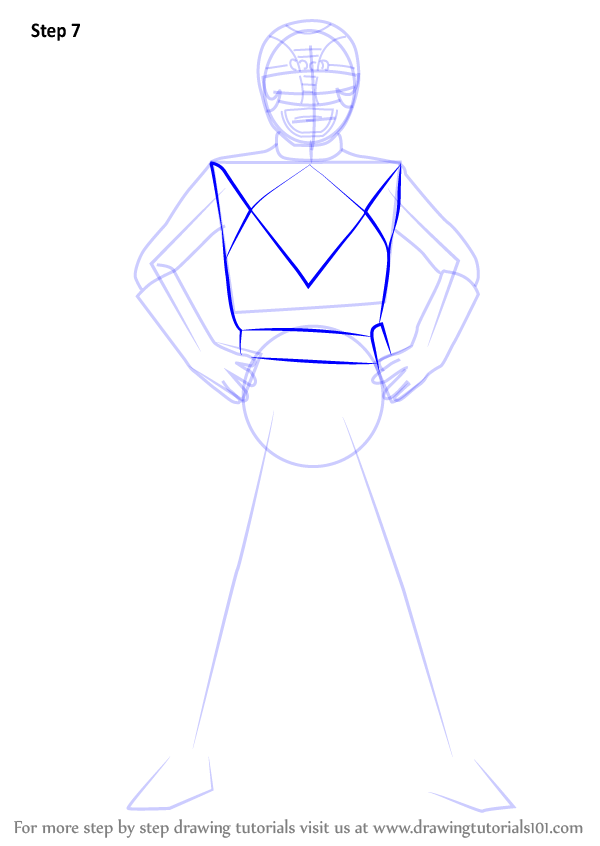 Step by Step How to Draw Black Ranger from Power Rangers ...