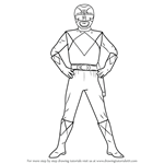 How to Draw Black Ranger from Power Rangers