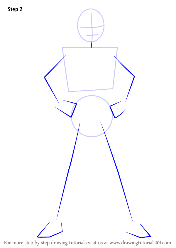 Learn How To Draw Blue Ranger From Power Rangers Power