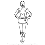 How to Draw Pink Ranger from Power Rangers