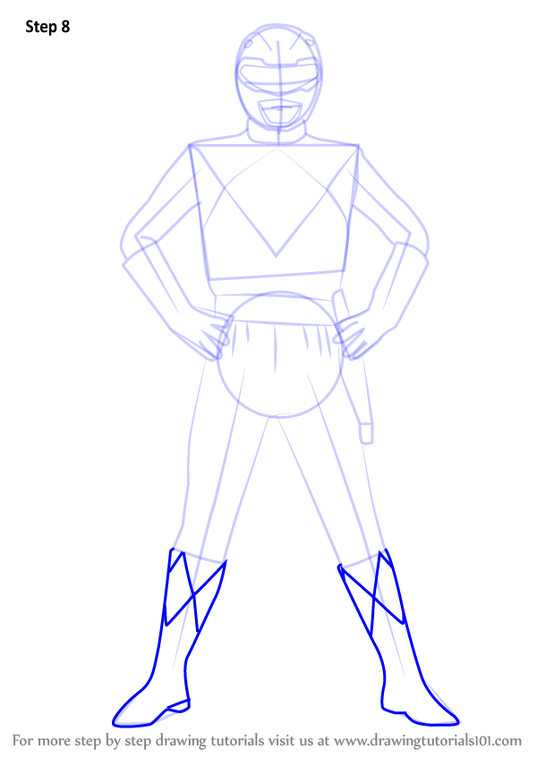 Learn How to Draw Red Ranger from Power Rangers Power Rangers