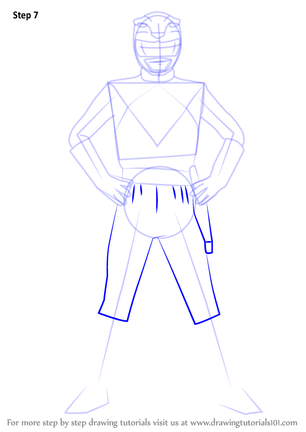 Learn How to Draw Yellow Ranger from Power Rangers Power Rangers