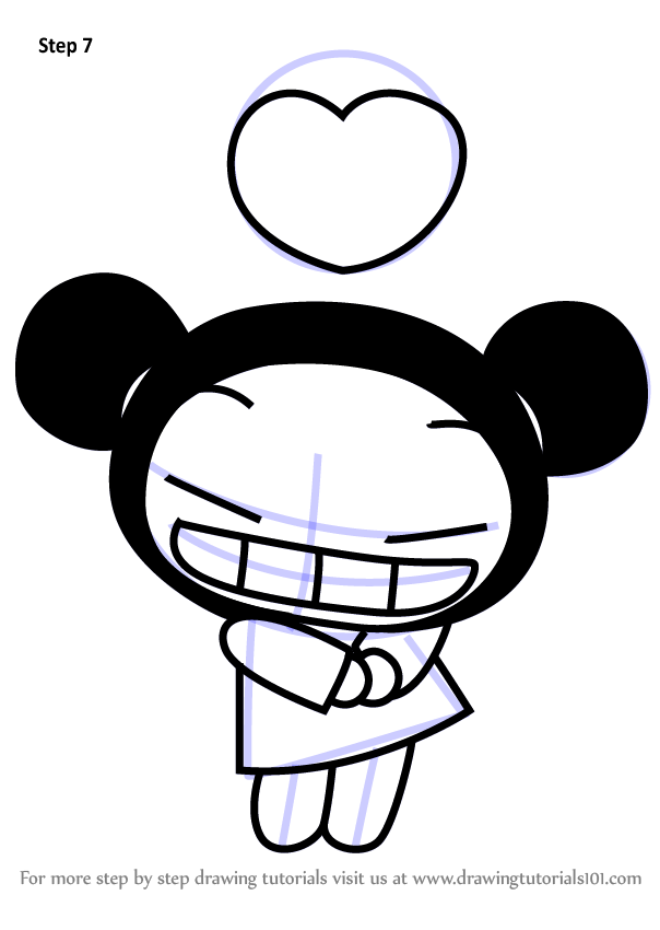 Learn How To Draw Pucca In Love From Pucca Pucca Step By