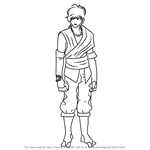 How to Draw Bolin Hori from RWBY