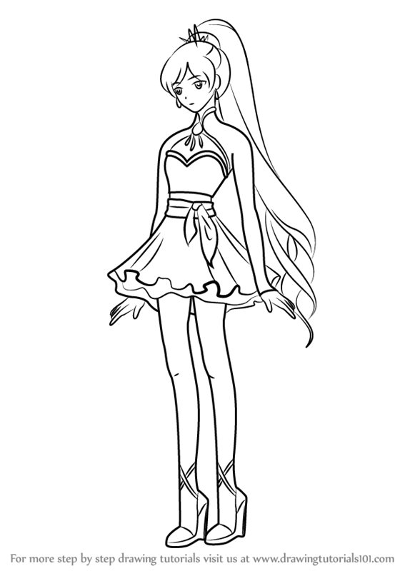 Rwby Ruby Rose Coloring Pages Coloring