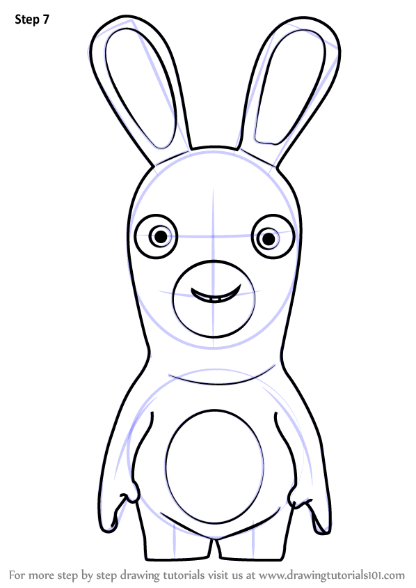 Learn How to Draw Rabbid from Rabbids Invasion Rabbids