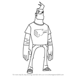 How to Draw Bash Johnson from Randy Cunningham - 9th Grade Ninja