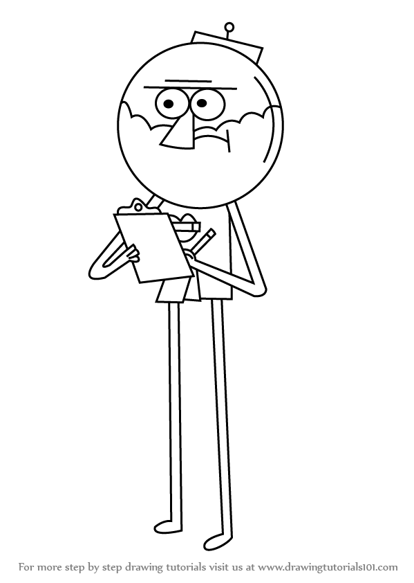 learn how to draw benson from regular show regular show