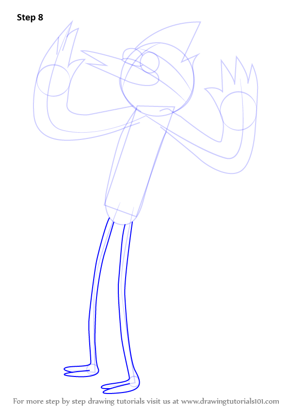 learn how to draw mordecai from regular show  regular show
