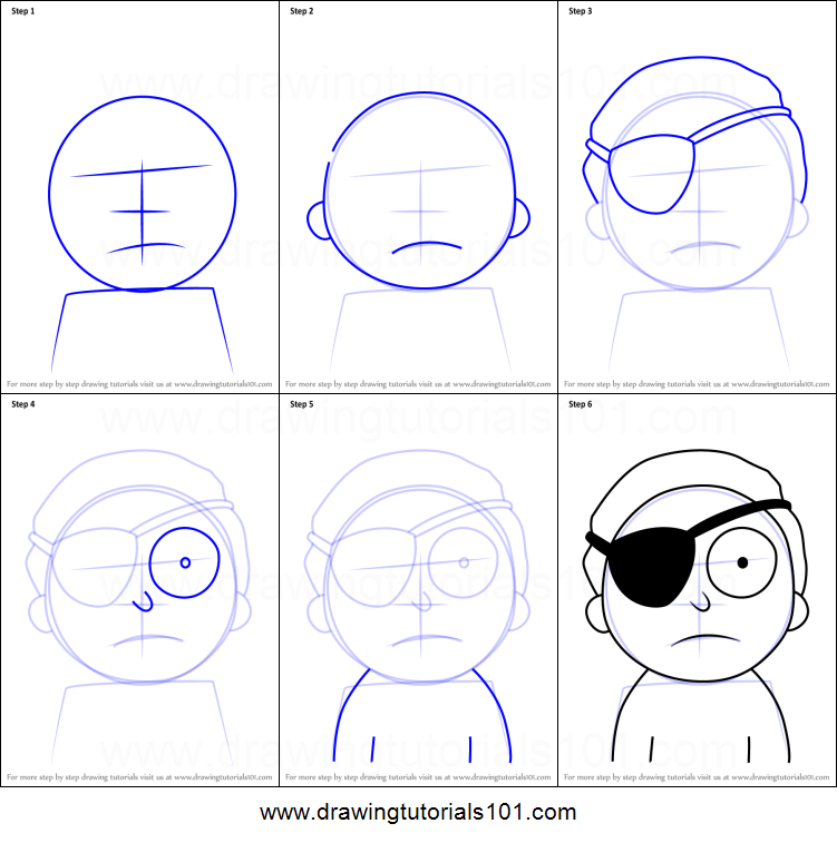 How To Draw Evil Morty From Rick And Morty Printable Step By