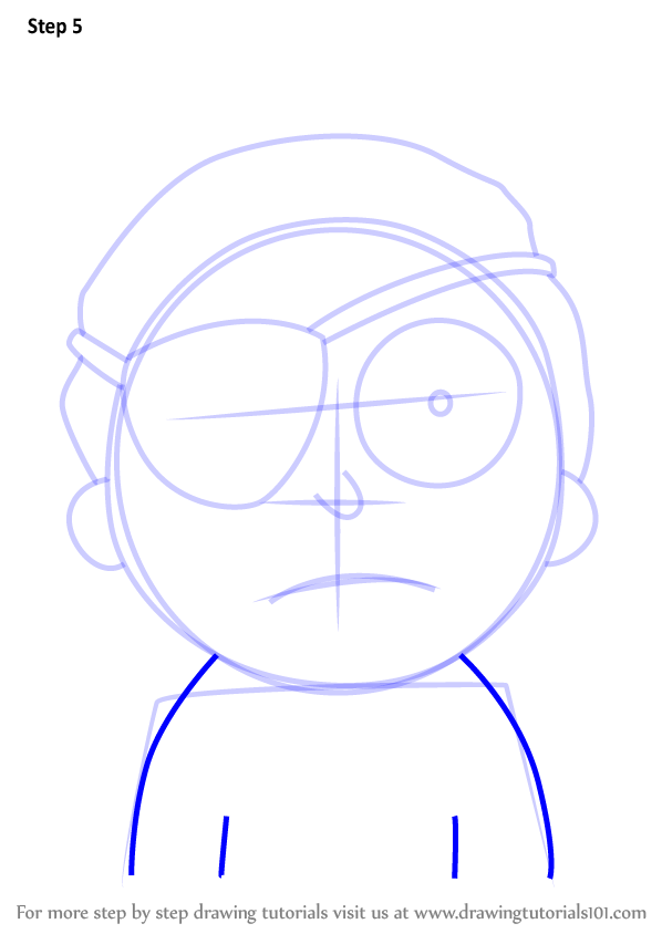 Learn How To Draw Evil Morty From Rick And Morty Rick And