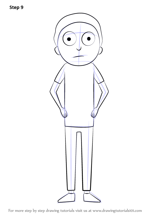 Learn How To Draw Morty From Rick And Morty Rick And