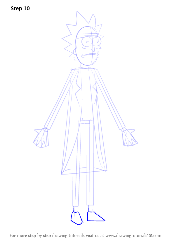 Learn How to Draw Rick from Rick
