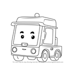 How to Draw Beny from Robocar Poli
