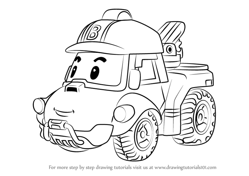 Bucky coloring pages ~ Learn How to Draw Bucky from Robocar Poli (Robocar Poli ...