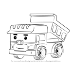 How to Draw Dump from Robocar Poli