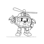 How to Draw Helly from Robocar Poli