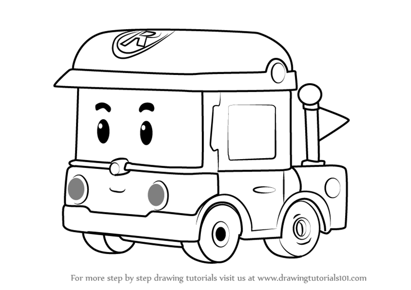Learn how to draw rody from robocar poli robocar poli for Robocar poli coloring pages