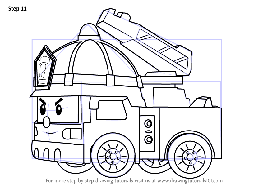 It's just a picture of Intrepid Fire Engine Drawing