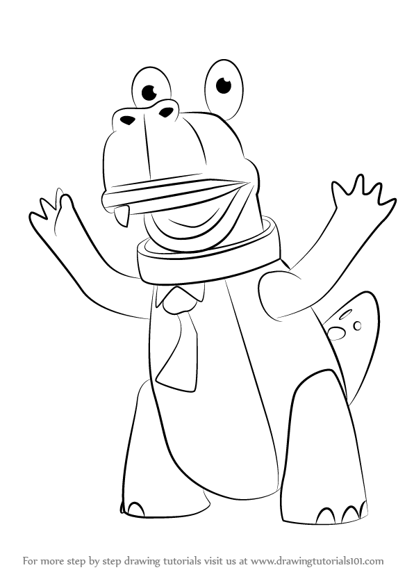 Learn How To Draw Terence From Rubbadubbers Rubbadubbers