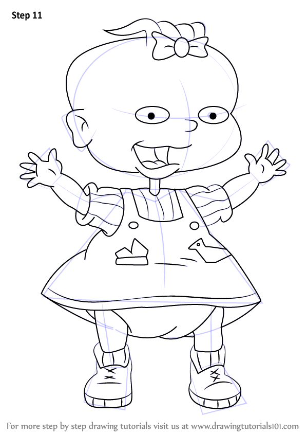 Learn How To Draw Lil Deville From Rugrats Rugrats Step