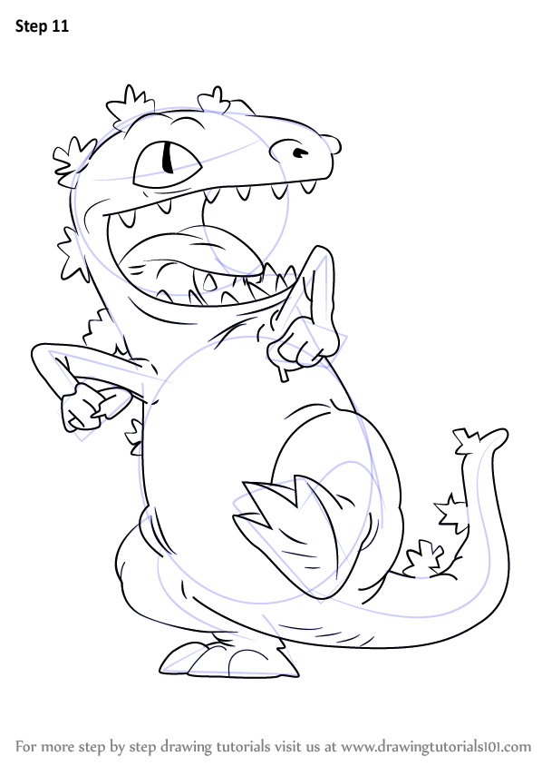 Learn How to Draw Reptar from Rugrats (Rugrats) Step by Step ...