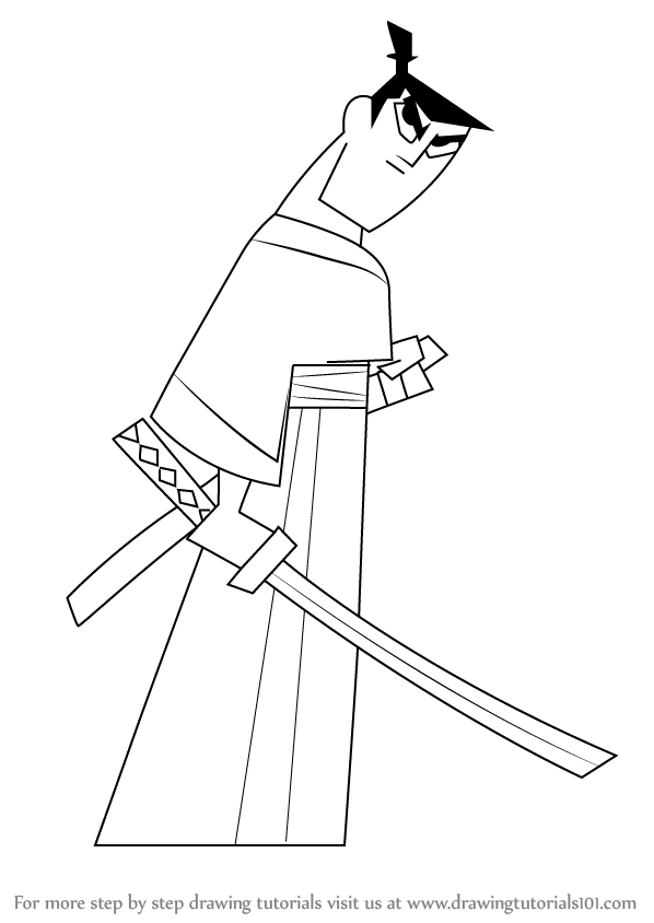 how to draw samurai