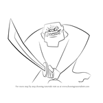 How to Draw The Guardian from Samurai Jack