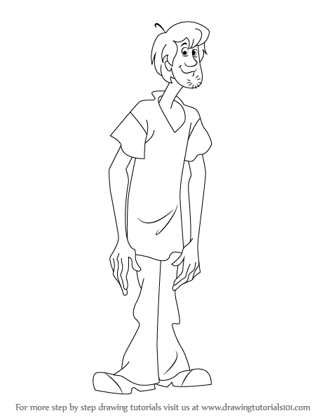 Learn How To Draw Shaggy From Scooby Doo Scooby Doo Step